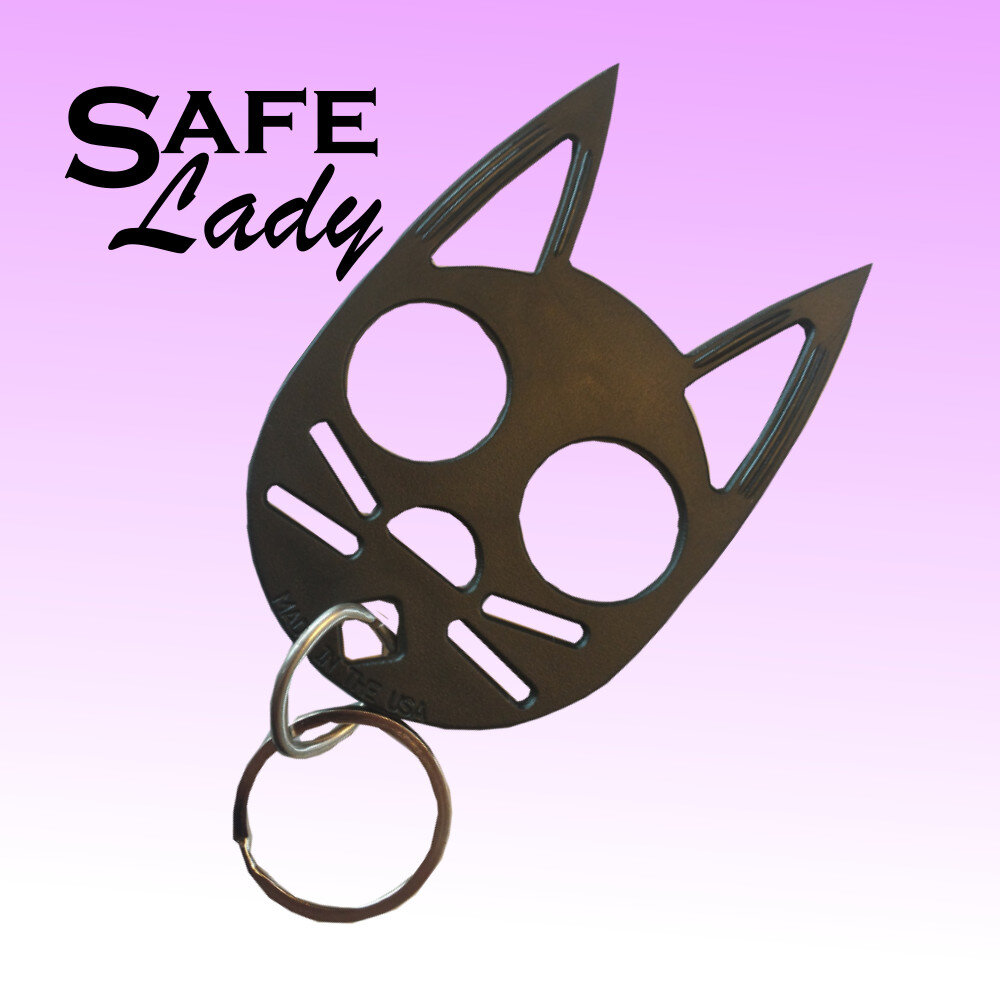 Mini Cat Key Chain Safe Lady Self Defense Key Chain