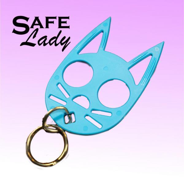 light blue-cat-key-chain